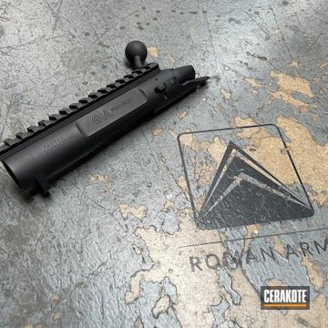 Bolt Action Receiver Cerakoted Using Armor Black