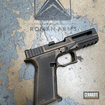 Glock P80 Cerakoted Using Graphite Black, Burnt Bronze And Gold