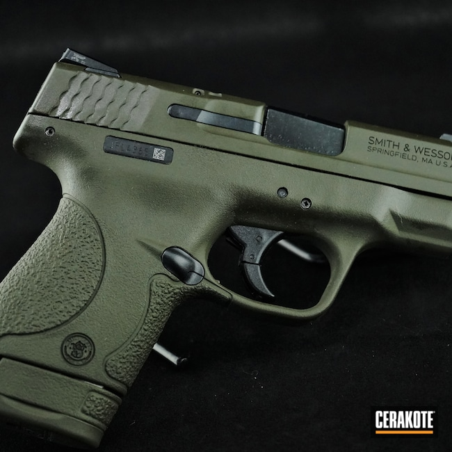 Cerakoted: S.H.O.T,Smith & Wesson,Pistol,.40,Mil Spec Green H-264,M&P Shield