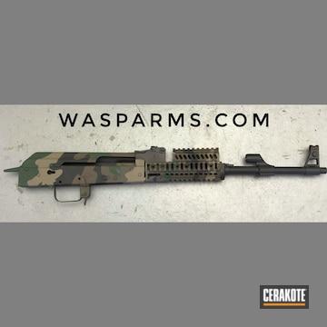 Ak-47 Cerakoted Using Noveske Bazooka Green, Chocolate Brown And Graphite Black