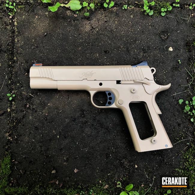 Cerakoted: S.H.O.T,.45,Graphite Black H-146,Kimber,Desert Sand H-199,Pistol,Single Shade,1911