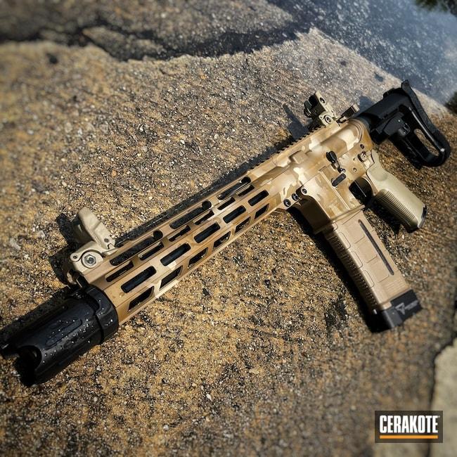 Cerakoted: S.H.O.T,Coyote Tan H-235,AR Pistol,Precision Tactical,Desert Sand H-199,.223,A.I. Dark Earth H-250,GLOCK® FDE H-261,Custom Camo