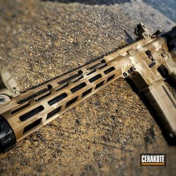 Custom Camo Ar Build Cerakoted Using Desert Sand, A.i. Dark Earth And Coyote Tan
