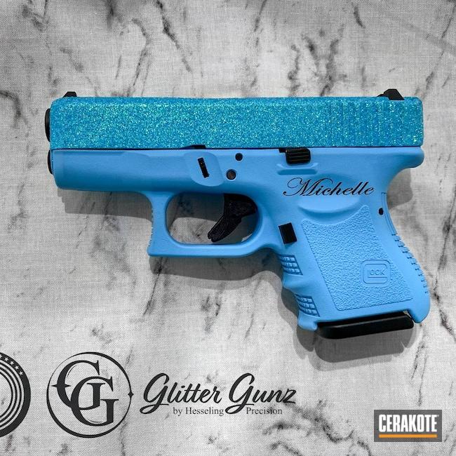 Cerakoted: S.H.O.T,9mm,Frozen,G26,Glock,BLUE RASPBERRY H-329,Glock 26