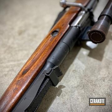 Mosin-nagant Rifle Cerakoted Using Graphite Black