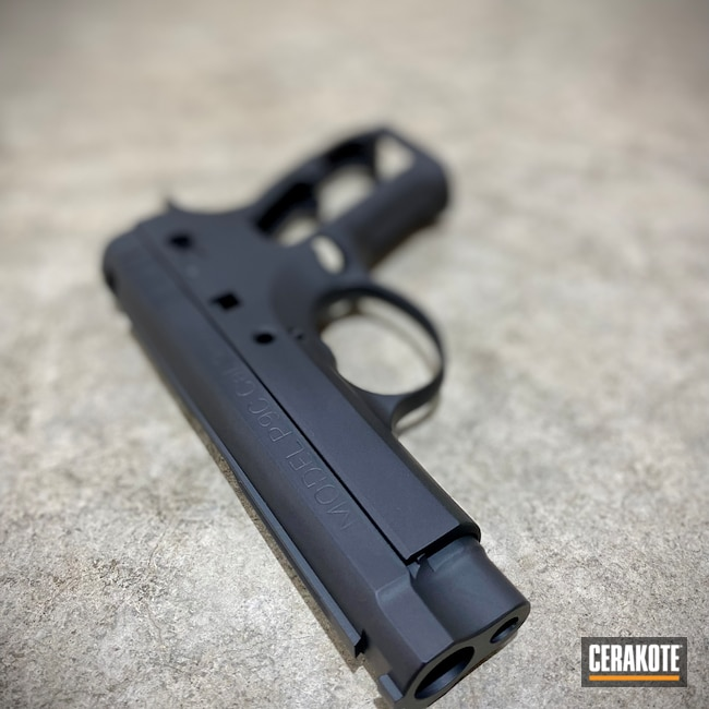 Cerakoted: S.H.O.T,9mm,Conceal Carry,Clone,Graphite Black H-146,CZ 75,Pistol,Springfield Armory,Firearms,Carry Gun,Daily Carry,Handgun