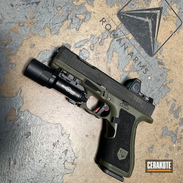Custom Glock Build Cerakoted Using Sniper Green, Sig™ Dark Grey And Graphite Black