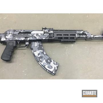 Custom Camo Ak-47 Cerakoted Using Tactical Grey, Sniper Grey And Graphite Black