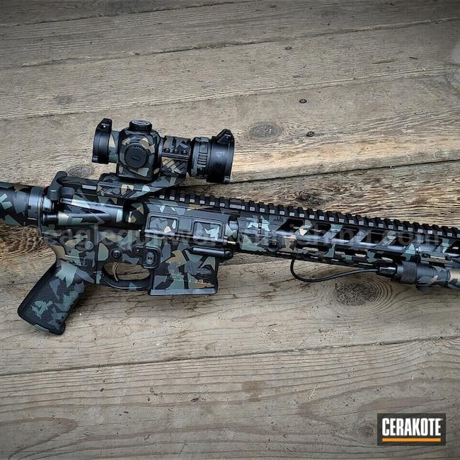 Cerakoted: S.H.O.T,SPRINGFIELD® GREY H-304,swedish m90 splinter camo,Graphite Black H-146,AR-15 Pistol,Flashlight,Burnt Bronze H-148,Splinter Camo,CHARCOAL GREEN H-338,Suppressor,Custom Camo,Optics