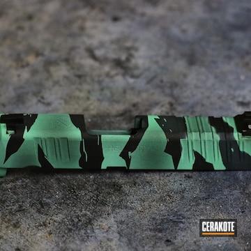 Springfield Armory Hellcat Slide Cerakoted Using Graphite Black And Island Green
