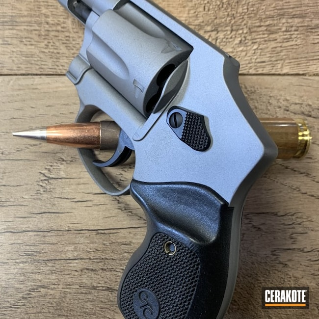 Cerakoted: S.H.O.T,Titanium E-250,Smith & Wesson,Armor Black H-190,Pistol,MULTICAM® DARK BROWN H-342