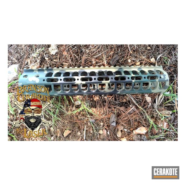 Cerakoted: S.H.O.T,Highland Green H-200,Flecktarn,Graphite Black H-146,MULTICAM® DARK BROWN H-342,O.D. Green H-236,Stencil,MULTICAM® PALE GREEN H-339,AR-15