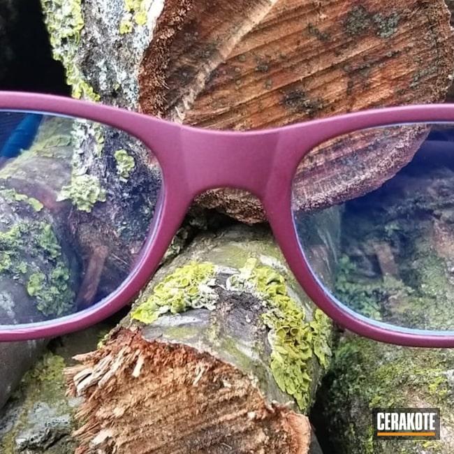Cerakoted: BLACK CHERRY H-319,Glasses,Blue Titanium H-185