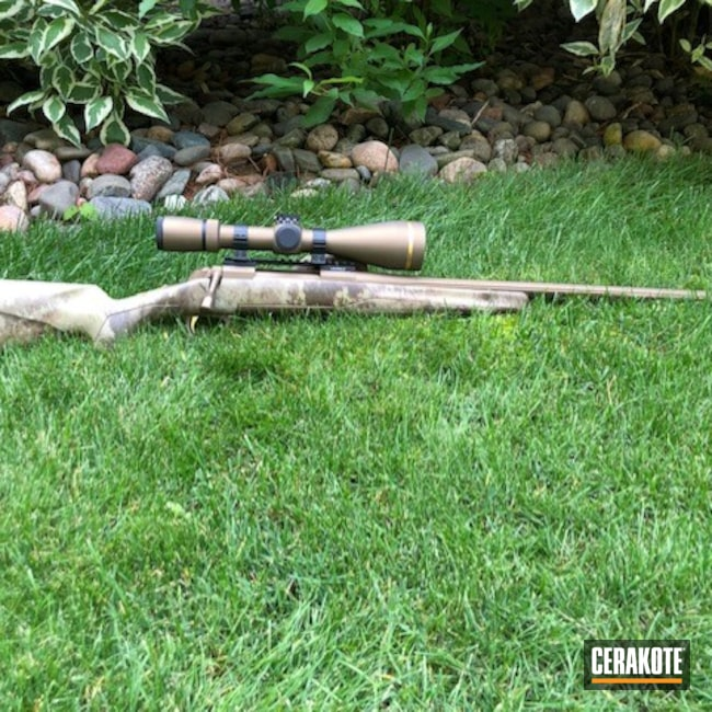 Cerakoted: S.H.O.T,7mm-08,Leupold Scope,Burnt Bronze H-148,Browning,MATTE ARMOR CLEAR H-301,Leupold