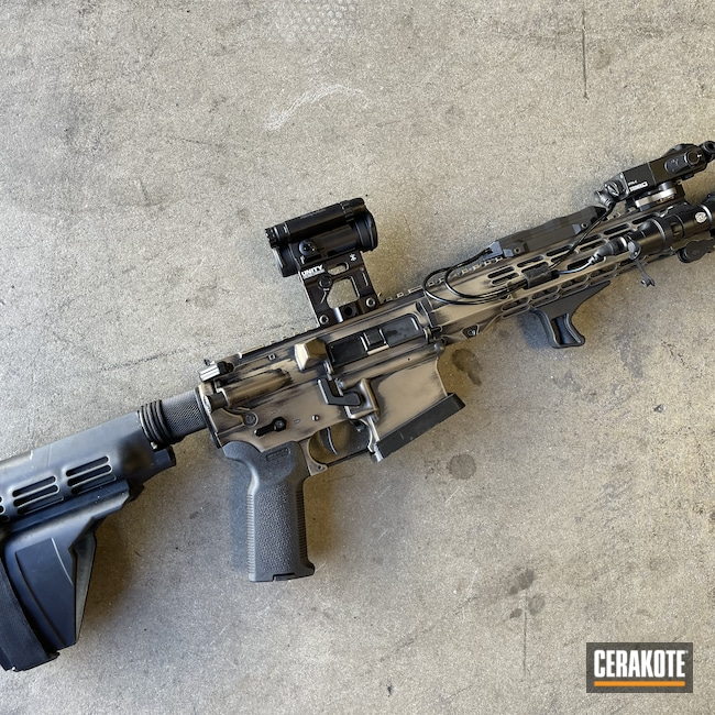 Cerakoted: S.H.O.T,AR Pistol,Graphite Black H-146,MAGPUL® FDE C-267,.223,AR Build