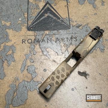 Kryptek Camo Glock Slide Cerakoted Using Patriot Brown, Benelli® Sand And Glock® Fde