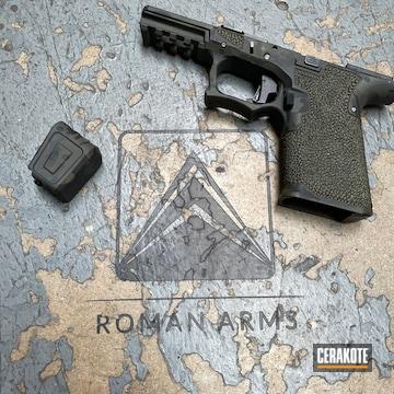 Glock P80 Frame Cerakoted Using Sniper Green, Sig™ Dark Grey And Graphite Black