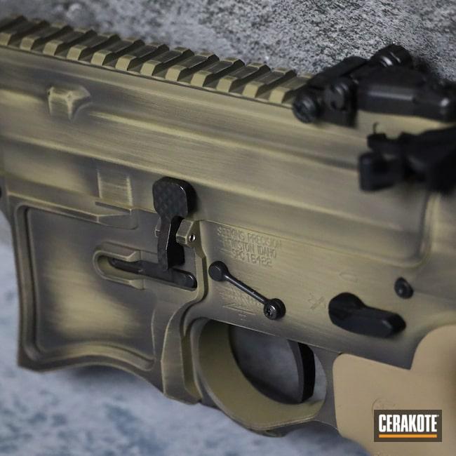 Cerakoted: S.H.O.T,Rifle,Coyote Tan H-235,Graphite Black H-146,AR,Distressed,SP223,.223,.223 Wylde,Seekins,5.56,AR-15