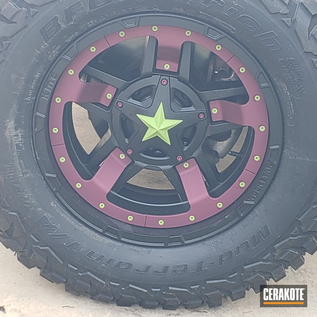 Cerakoted: BLACK CHERRY H-319,Zombie Green H-168,Automotive