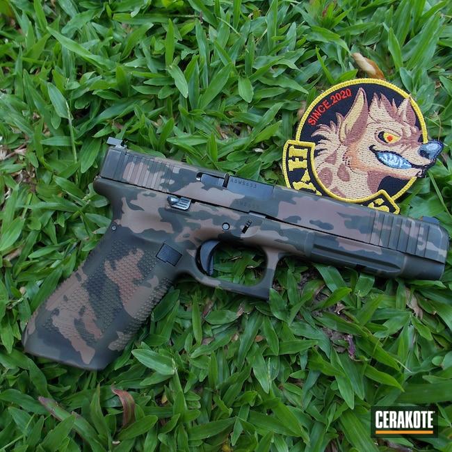 Cerakoted: S.H.O.T,MAGPUL® FLAT DARK EARTH H-267,Graphite Black H-146,Glock 34,MULTICAM® DARK BROWN H-342,O.D. Green H-236,Custom Camo