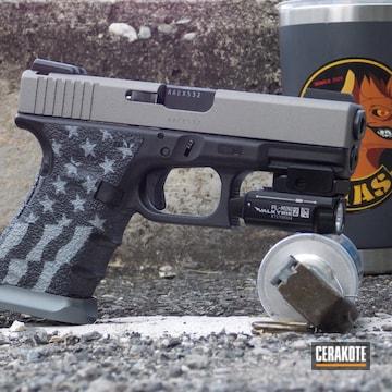 American Flag Themed Glock 19 Cerakoted Using Shimmer Aluminum