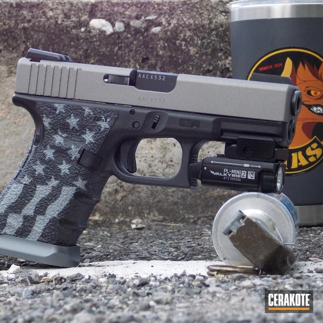 Cerakoted: S.H.O.T,Glock 19,Shimmer Aluminum H-158
