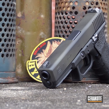 Glock 17 Cerakoted Using O.d. Green And Graphite Black