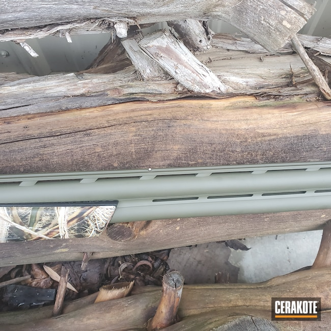 Cerakoted: S.H.O.T,Shotgun,Graphite Black H-146,Browning,12 Gauge,Cynergy,O.D. Green H-236