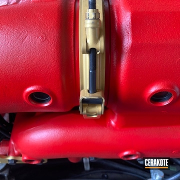 Master Craft Marine Manifold Cerakoted Using Gold, Stoplight Red And Blackout