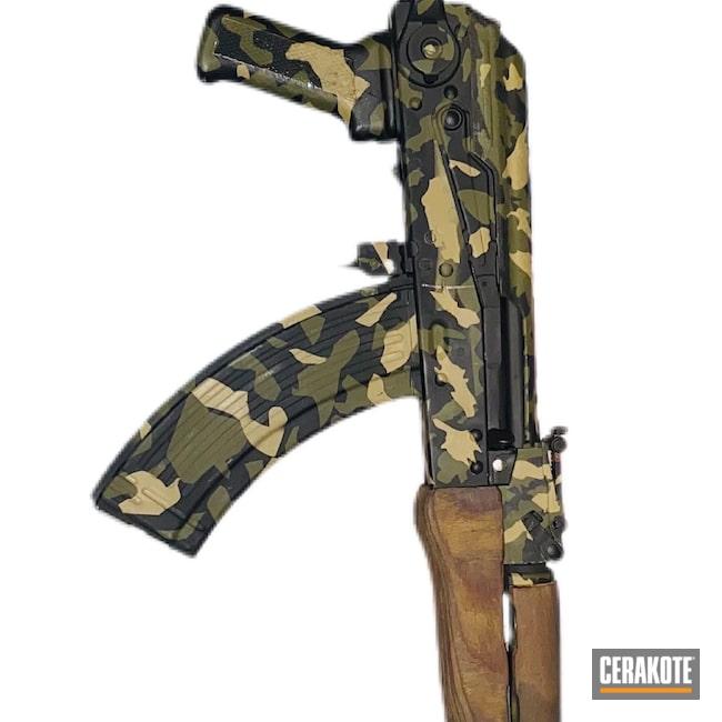 Cerakoted: S.H.O.T,Armor Black H-190,AK-47,7.62x39,O.D. Green H-236,AK