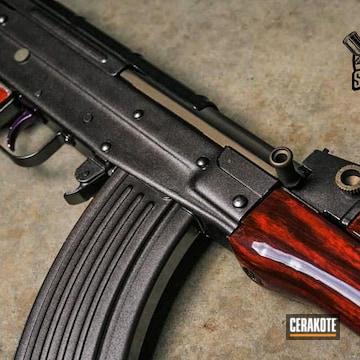 Ak-47 Cerakoted Using Graphite Black And Burnt Bronze
