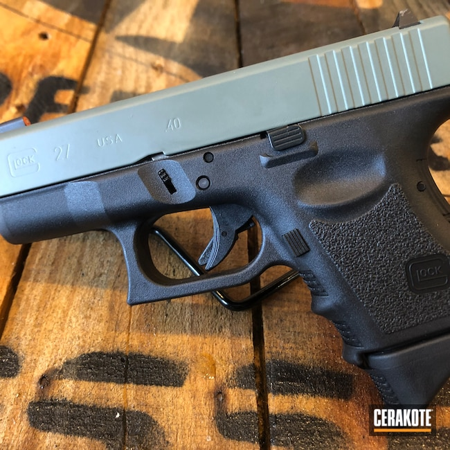 Cerakoted: S.H.O.T,Jungle E-140,Cerakote Elite Series,Glock 27,.40
