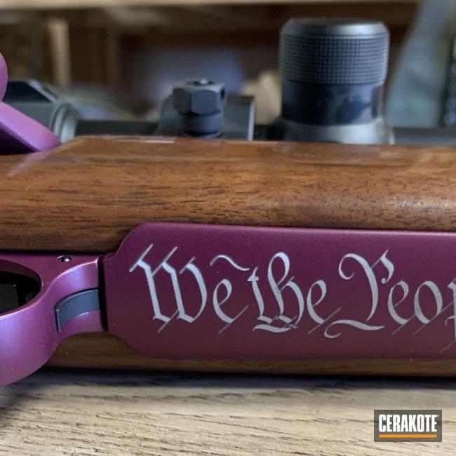 Cerakoted: S.H.O.T,Rifle,BLACK CHERRY H-319,.243,Armor Black H-190,Remington,Remington 700