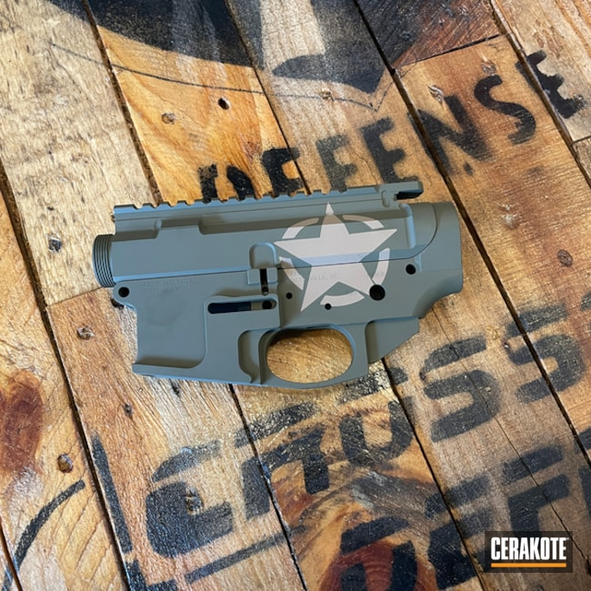 Ar-15 Builders Set Cerakoted Using Sniper Green, Light Sand And Coyote Tan