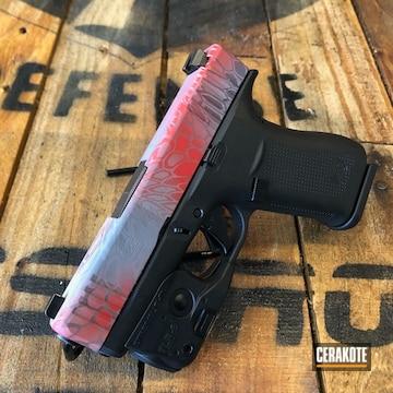 Kryptek Camo Glock 43x Cerakoted Using Habanero Red, Bright White And Graphite Black