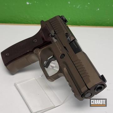 Sig Sauer P320 Pistol Cerakoted Using Midnight Bronze