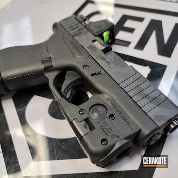 Custom Camo Glock 43 Cerakoted Using Sniper Grey, Graphite Black And O.d. Green