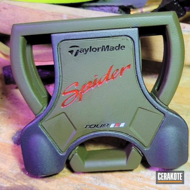 Cerakoted: Putter,Golf,Sports Equipment,Tungsten H-237,TaylorMade,O.D. Green H-236