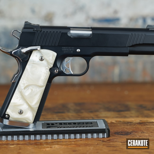 Cerakoted: S.H.O.T,Socom Blue H-245,Firearm,Pistol,1911