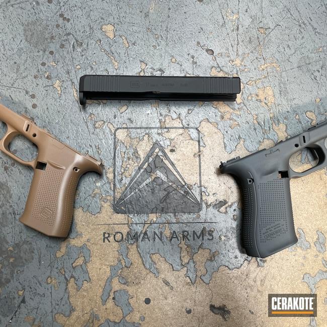 Cerakoted: Glock 43X,S.H.O.T,20150 E-190,Cerakote Elite Series,Frame,Stripped,EDC Pistol,Glock Slide,Pistol,Glock 17,Elite,Slide,Daily Carry,EDC,Pistol Frame,Handgun,Sniper Grey H-234,Graphite Black H-146,Glock,Glock Frame,Handguns