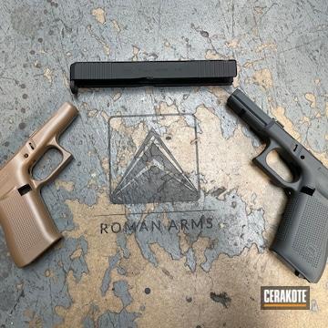 Glock 43x Frames And Slide Cerakoted Using 20150, Sniper Grey And Graphite Black