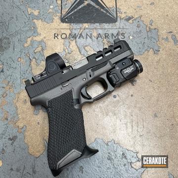 Glock 45 Cerakoted Using Graphite Black And Tungsten