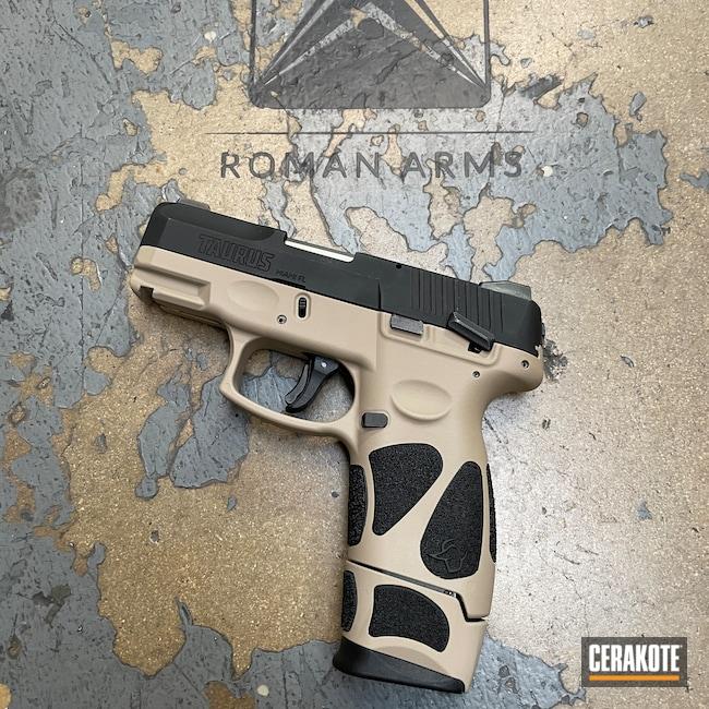 Cerakoted: S.H.O.T,9mm,EDC Pistol,Graphite Black H-146,MCMILLAN® TAN H-203,Pistol,Taurus,Daily Carry,Handguns,EDC,Handgun,G2C