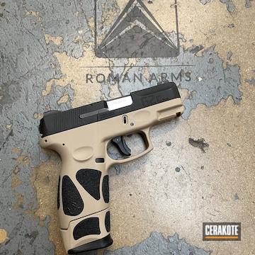 Taurus G2c Pistol Cerakoted Using Mcmillan® Tan And Graphite Black