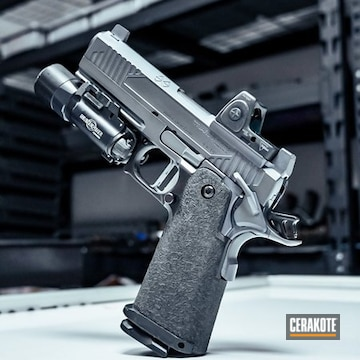 Triarc Systems Tri-11 Pistol Cerakoted Using Micro Slick Dry Film Lubricant Coating (air Cure)