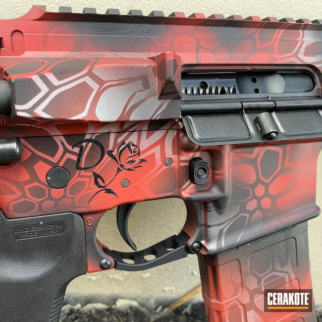 Cerakoted: Satin Mag H-147,S.H.O.T,Kryptek,FIREHOUSE RED H-216,Crimson H-221,Armor Black H-190,.223