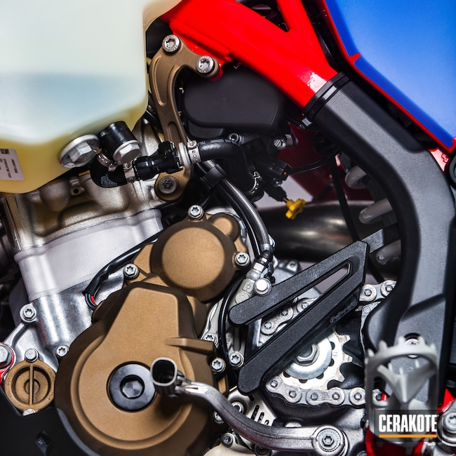 Cerakoted: Motorcycles,Burnt Bronze H-148,Automotive,Dirt Bike