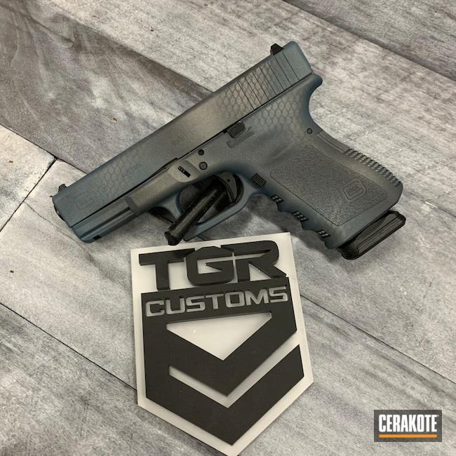 Cerakoted: S.H.O.T,Glock 19,Sniper Grey H-234,Tactical Grey H-227,Custom Camo,Blue Titanium H-185
