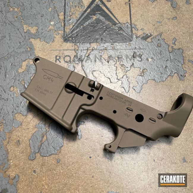 Cerakoted: S.H.O.T,Custom Mix,Receiver,Lower,Burnt Bronze H-148,Gun Parts,Earth E-130,Centurion Arms,Tanodize,AR-15