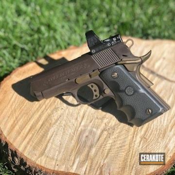 Colt Defender Pistol Cerakoted Using Vortex® Bronze And Burnt Bronze